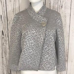 Michael Kors leopard print crop jacket coat